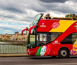 Florence in a Day: Walking Tour and City Sightseeing Bus