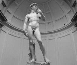 La Galleria dell'Accademia col David di Michelangelo